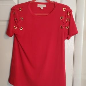Mk red blouse